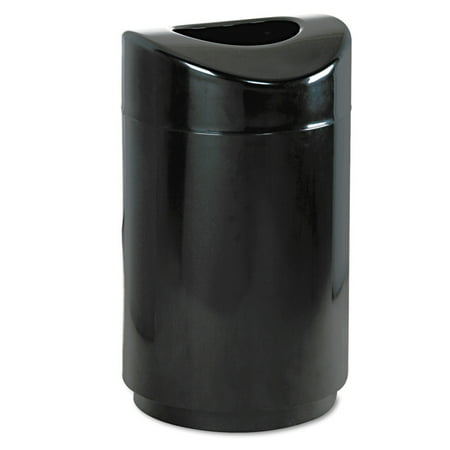 Rubbermaid Commercial FGR2030EPLBK Eclipse Open Top Waste Receptacle, Round, Steel, 30gal, Black 38 Gallon Steel Hinged Top