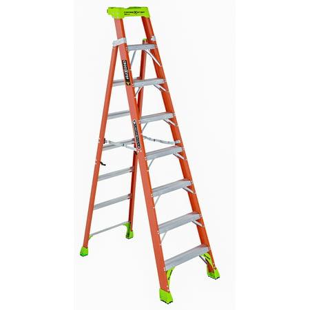 Louisville Ladder FXS1508 8 ft. Fiberglass Cross Step Ladder, Type IA, 300 Lbs Load Capacity Ansi Standards Ladders