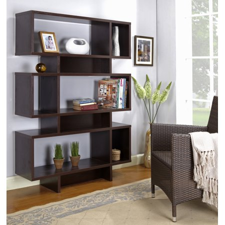 Espresso Wood 12 Cube 5 Tier Bookcase Display Shelves Cabinet For Home & Office