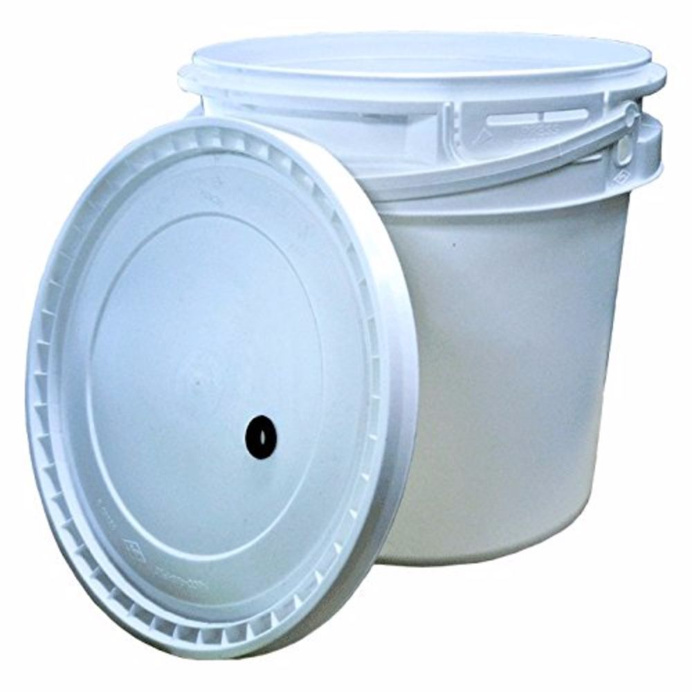 2 Gallon Plastic Fermenter w  drilled lid by Midwest Homebrewing and Winemaking Supplies