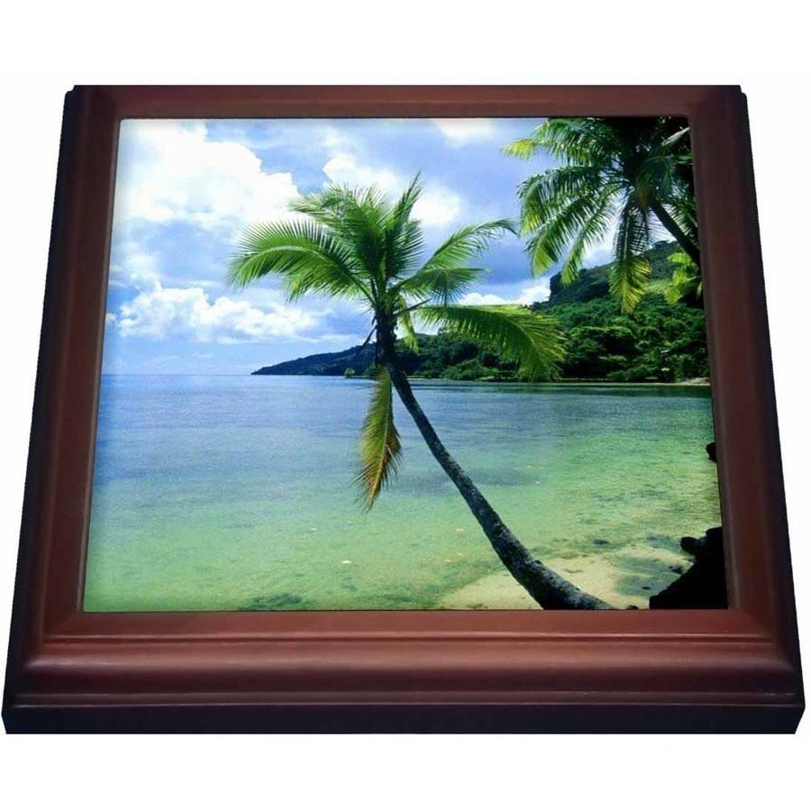 3dRose Tropical Paradise, Trivet with Ceramic Tile, 8 by 8-inch