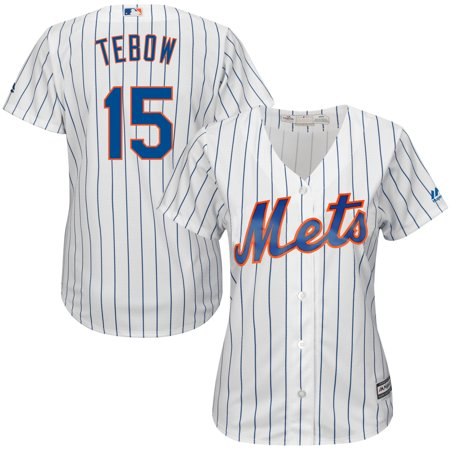 Tim Tebow New York Mets Majestic Women's Home Cool Base Player Replica Jersey -
