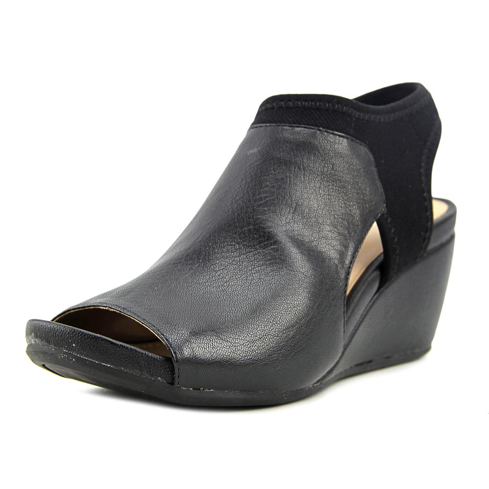 Naturalizer Cailla Women Open-Toe Leather Black Slingback Sandal by Naturalizer