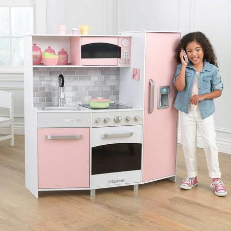 KidKraft Large Play Kitchen - Pink & White - Walmart.com