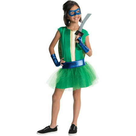Teenage Mutant Ninja Turtles Deluxe Leonardo Girl Tutu Girls' Child Halloween Costume](Halloween Teenage Girl Costumes)