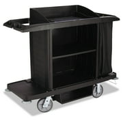 Rubbermaid Commercial Housekeeping Cart, 22w x 60d x 50h, Black by Rubbermaid Commercial