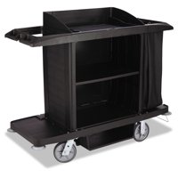 Rubbermaid Commercial Housekeeping Cart, 22w x 60d x 50h, Black by RUBBERMAID COMMERCIAL PROD.