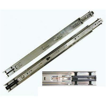 - Knape & Vogt Kv8417 B22 22 In. Self-Closing 100 Lb. Full Extension Drawer Slide - Anochrome