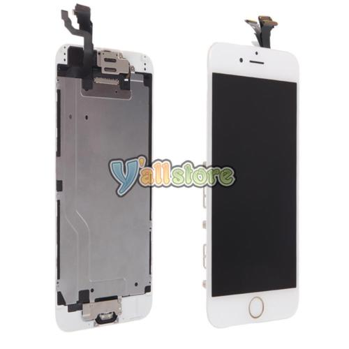 White Front LCD Lens Touch Digitizer Screen Assembly for iPhone 6 w/Home Button