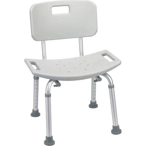 Amazing Drive Medical Bathroom Safety Shower Tub Bench Chair With Back, Gray