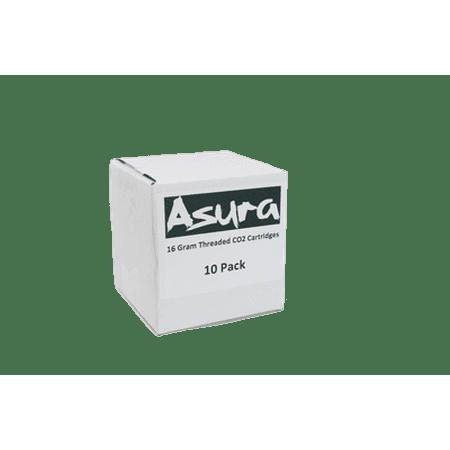 Asura 16 Gram CO2 Threaded Cartridges 10 (Threaded Air Cartridge)