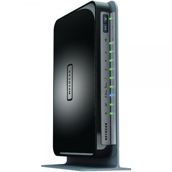 Netgear N750 Dual Band 4 Port Wi-Fi Gigabit Router (WNDR4...