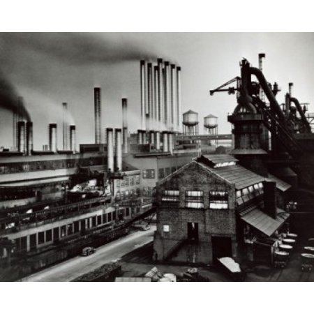 High Angle View Of A Factory River Rouge Plant Ford Motor