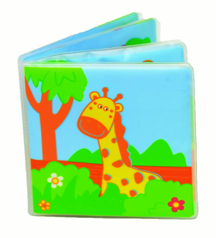 Floating Musical Bath Tub Book Forest Animals Multicolored