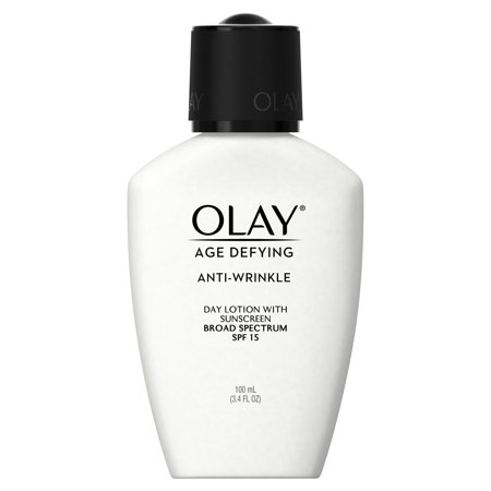 Olay Age Defying Anti-Wrinkle Day Face Lotion with Sunscreen SPF 15, 3.4 fl oz Age Defying Marine