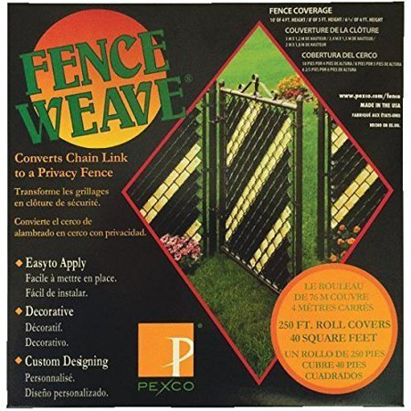 Fence Weave to Convert Chain Link to a Privacy Fence - Black 250 feet ()