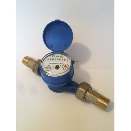 "DAE AS200U-75 Water Meter, 3/4"" NPT Couplings, Measuring in Gallons"