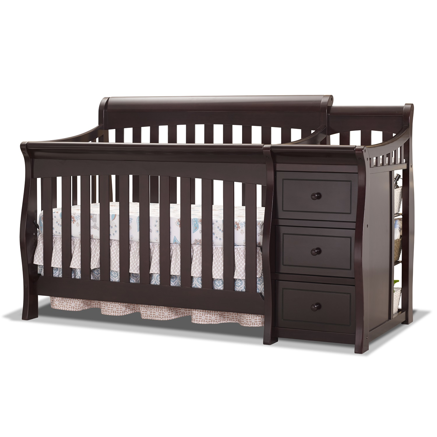 Sorelle Princeton Elite 4-in-1 Convertible Crib and Changer Espresso