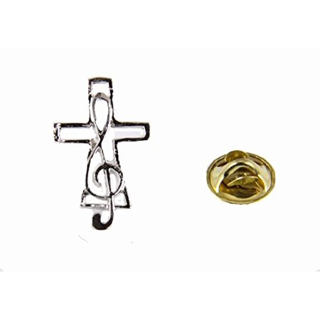 Music Note & Cross Lapel Pin Music Minister Volunteer Church Choir La... ()