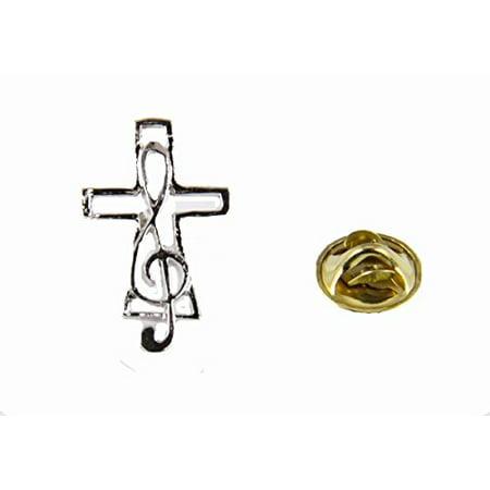 - Music Note & Cross Lapel Pin Music Minister Volunteer Church Choir La...