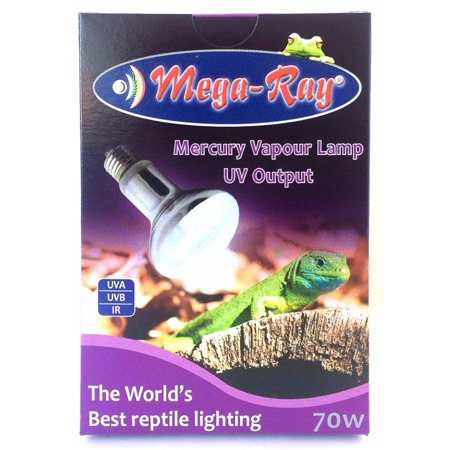 400 Watt Mercury Vapor (Mega-Ray Mercury Vapor Bulb - 70 Watts - Smallest UV Vapor Bulb On The Planet)