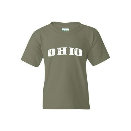 designer fashion 976f0 c5e68 Ohio State Flag Unisex Youth Shirts T-Shirt Tee