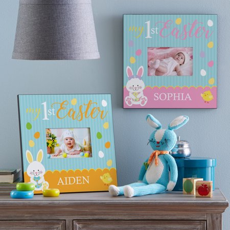 Personalized Baby's First Easter Frame - Orange