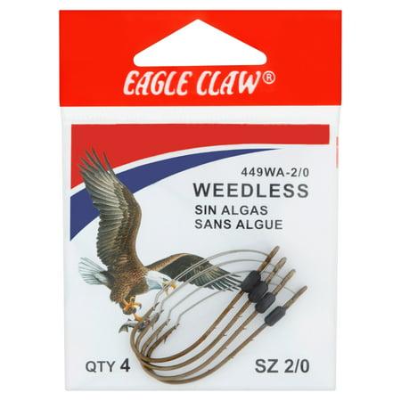 Eagle Claw Weedless Baitholder 2-Slice Non-Offset Hook, Bronze