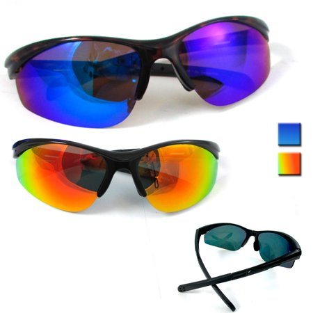 Polarized Cycling Sunglasses Bike Goggles Eyewear Shiny Lens Sport Glasses UV400