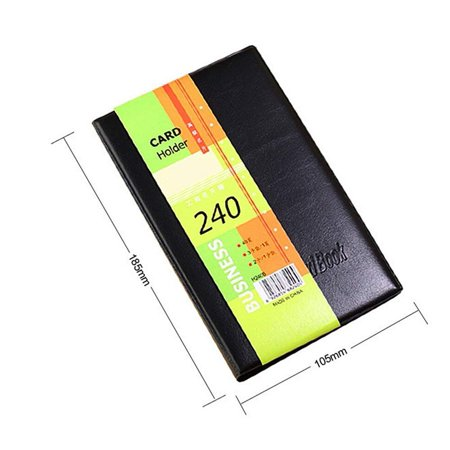 Leather Cards Business Name ID Credit Card Holder Book Case Keeper Organizer (240 Cards) Leather Business Card Stand