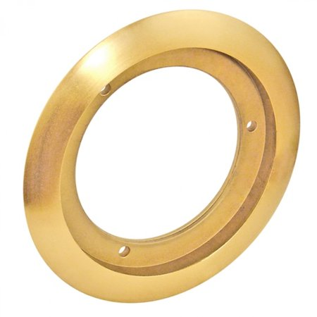 2 Pcs, 4-1/2 In. Brass Round Carpet Flange, 5-1/8 In. O.D., Brass for Use w/4-1/2In Round Concrete Floor (Best Way To Remove Carpet Glue From Concrete Floor)