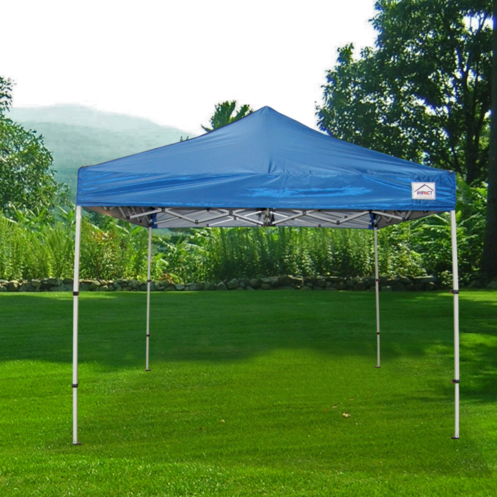Impact Canopy 10 x 10 ft. Pop Up Canopy Tent Folds To 42 in. Tall Instant Canopy
