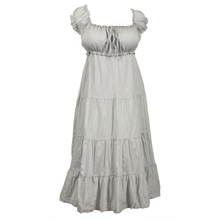 a759c6300376 eVogues Apparel - eVogues Plus Size Cotton Empire Waist Sundress Gray -  Walmart.com
