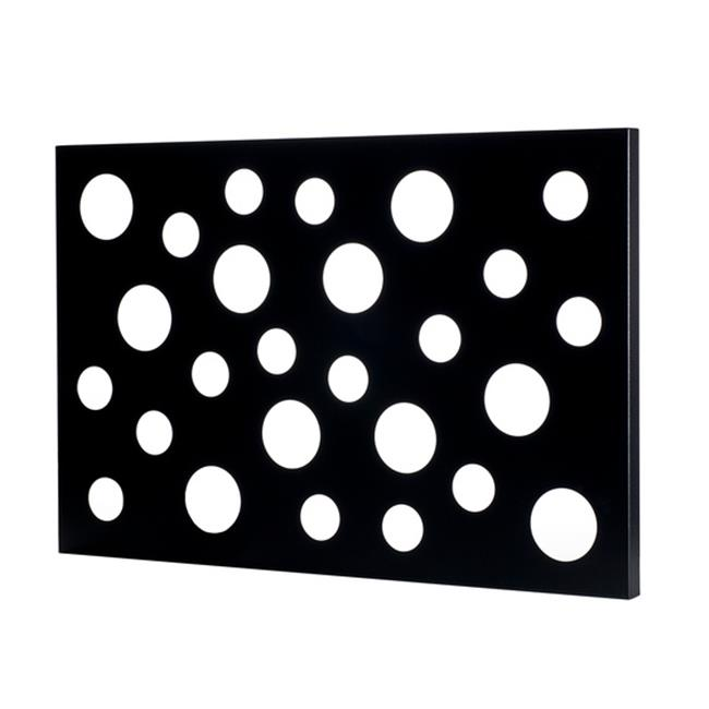 Metal Decor WA-3010-M-BLK Large Circles Black Ridge Metal Mirror & Wall Decor Art