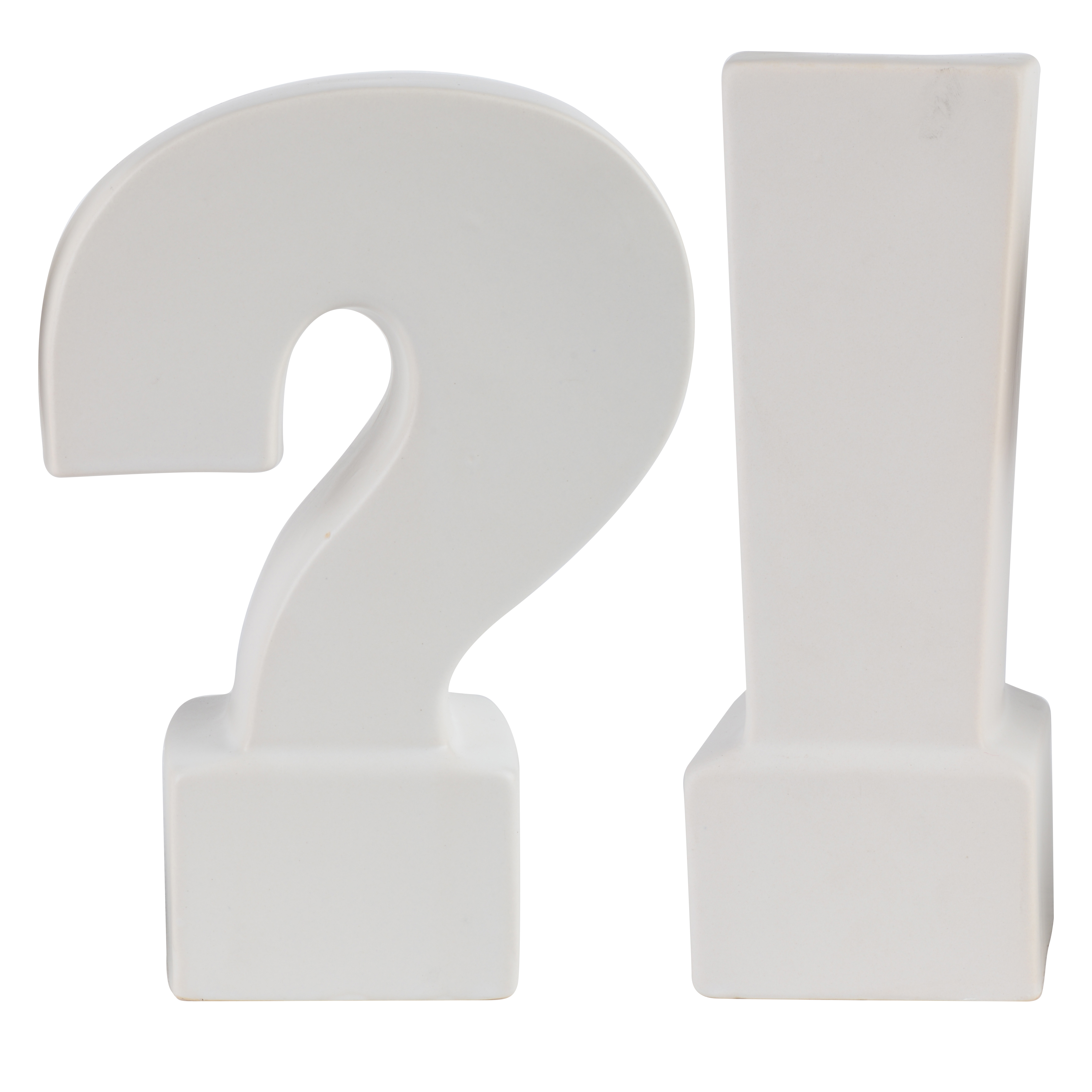 A&B Home Question & Exclamation Mark Bookends, Gold, Set of 2 by A&B Home