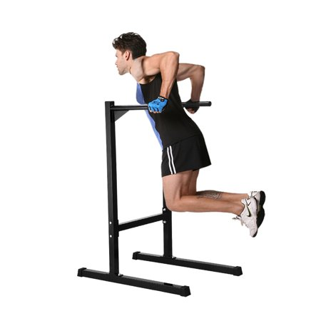 Ollieroo Heavy Duty Dip Stand Freestanding Station Parallel Bar Bicep Triceps Home Gym Dipping Black