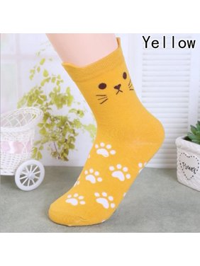 36d69f3d39c Product Image Fancyleo Cat Footprints Socks Cute Cartoon Sexy Korean Women s  Fashion Cotton Sock