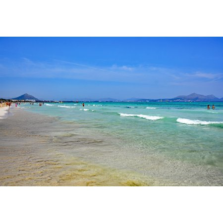 Canvas Print Spain Sea Mallorca Balearic Islands Playa De Muro Stretched Canvas 10 x 14