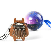 8-Key Mini Kalimba Portable Thumb Finger Piano Percussion Pocket Musical Instrument with Necklace