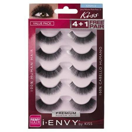 7de21c17718 Kiss I Envy Juicy Volume 13 Value Pack 4+1 Lashes - Walmart.com