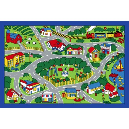 Children Area Rug City Map 39