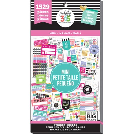 Happy Planner Sticker Value Pack-Mom - Mini, 1529/Pkg (Happy Face Valu Pak Stickers)