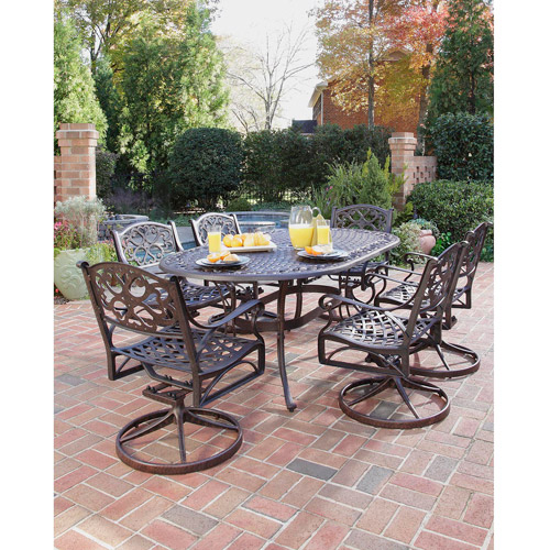 Home Styles Biscayne 7 Piece Dining Set, Multiple Finishes