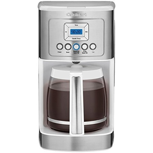 Cuisinart DCC-3200W PerfecTemp 14-Cup Programmable Coffeemaker, Stainless/White