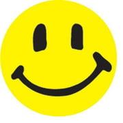 Smile Face Stickers 100-pak