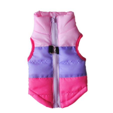 Small Pet Cat Dog Clothes Winter Warm Padded Coat Jacket Vest Harness Apparel