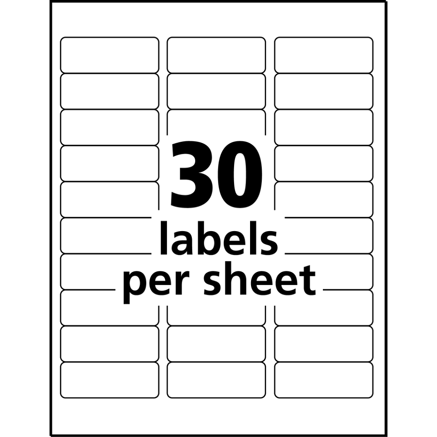 8 labels per page template