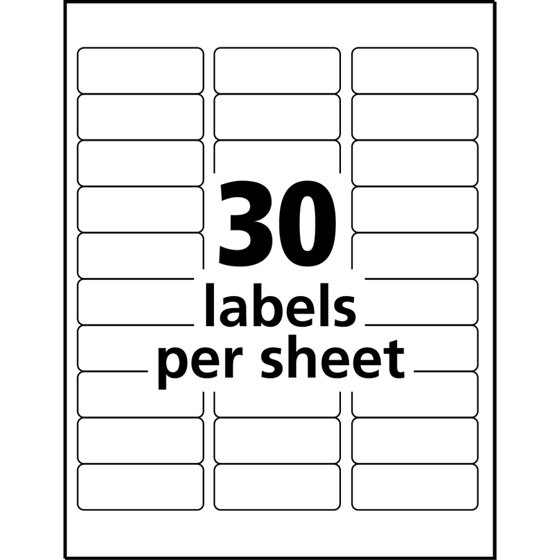 Avery Easy Peel Address Labels For Inkjet Printers Clear 1 X 2 5