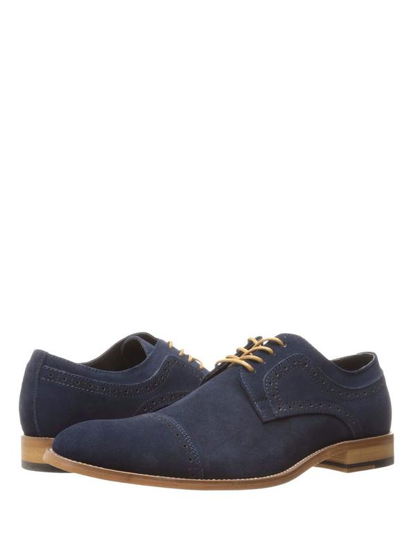 Stacy Adams Dobson Men's Cap Toe Suede Leather Oxford 25093-415