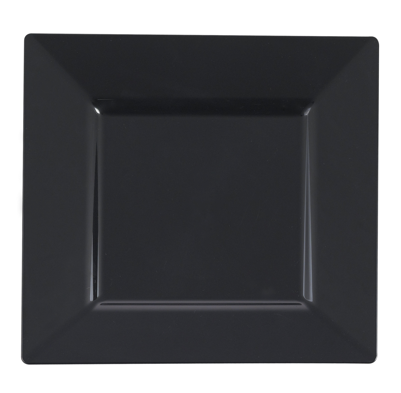 Image 2 of 2  sc 1 st  Walmart.com & Kaya Collection - Square Black Disposable Plastic Dinnerware Party ...